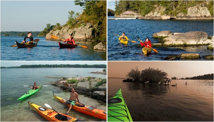 kayak dans le parc national 1000 Islands