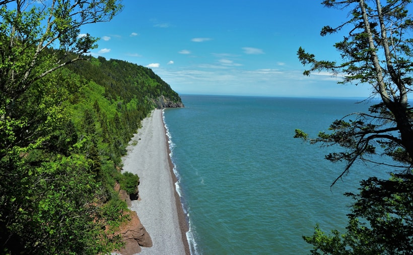 Plage au Fundy Trail Parkway